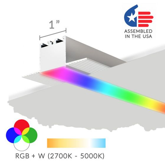 Alcon 12100-10-R-RGBW Linear Recessed LED Color-Changing Light