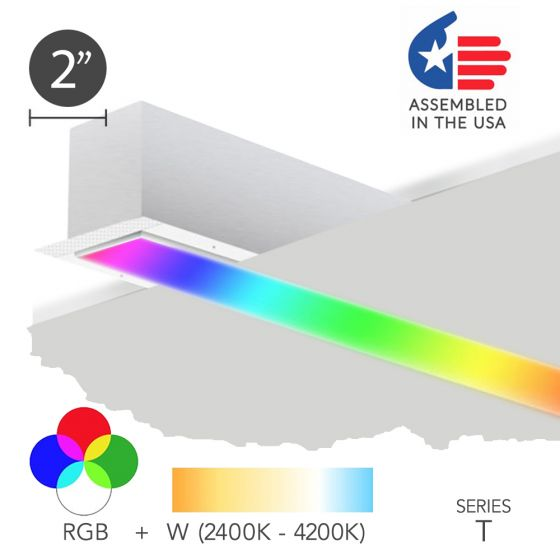 Alcon 12100-20-RGBW-R Color Changing LED Linear Recessed