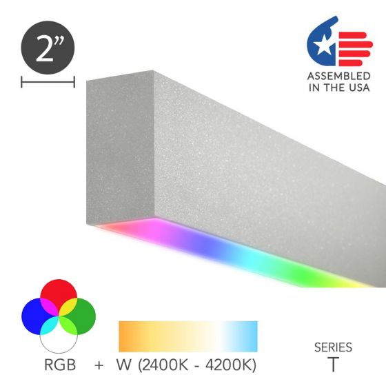 Alcon 12100-20-RGBW-S Color Changing LED Linear Surface Downlight