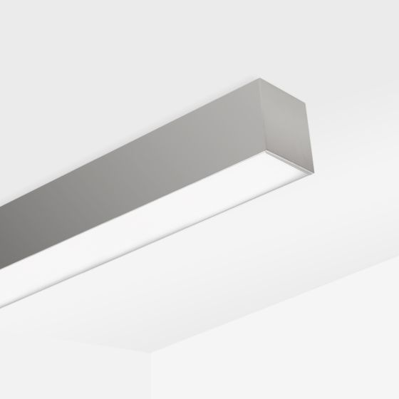 Alcon 12100-22-S Linear Continuous Surface-Mounted LED Ceiling Light