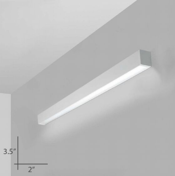 Alcon Lighting 12100-23-W-D Continuum 23 Series Architectural LED Linear Wall Mount Direct Down Light Fixture