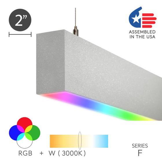Alcon Lighting 12100-23-RGBW-P Linear Pendant Color Changing LED Light