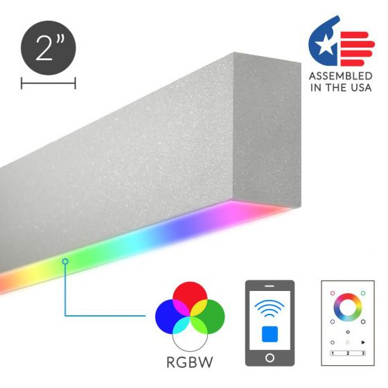 Alcon Lighting 12100-23-RGBW-S Color Changing Continuum 23 Series Architectural LED Linear Surface Direct Light Fixture