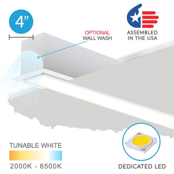 Alcon 12100-40-R 4-inch Aperture Linear Recessed LED Light