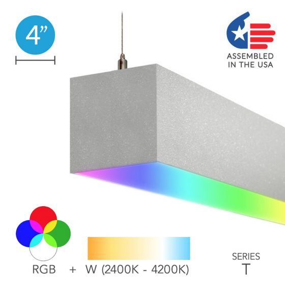 Alcon 12100-40-RGBW-P Color-Changing Linear LED Pendant Light