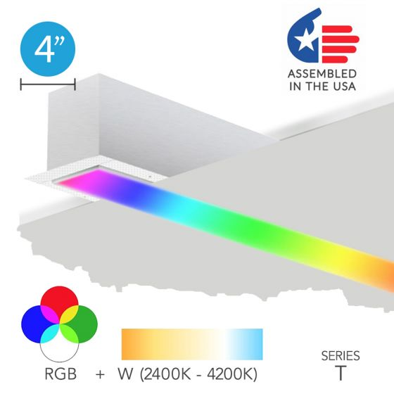 Alcon 12100-40-RGBW-R Color Changing LED Linear Recessed