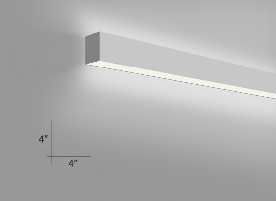 Alcon Lighting 12100-45-W Continuum 45 Series Architectural LED Linear Wall Mount Direct/Indirect Light Fixture