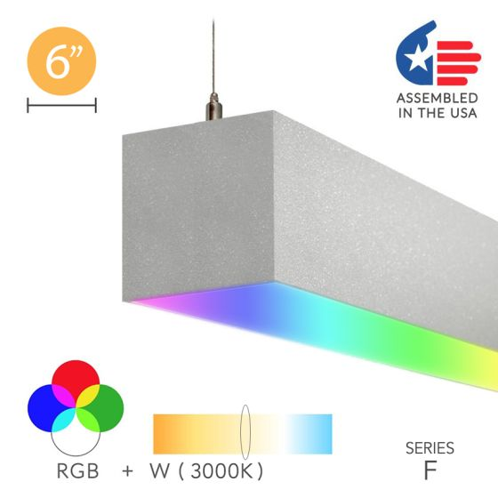 Alcon 12100-66-RGBW-P Color Changing LED Linear Pendant