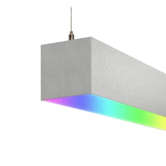 Alcon 12100-66-RGBW-P Color-Changing LED Linear Pendant Light
