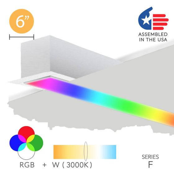 Alcon 12100-66-RGBW-R Color Changing LED Linear Recessed