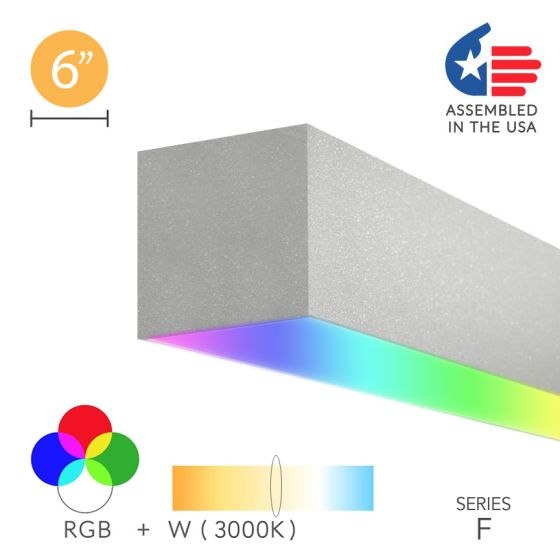 Alcon 12100-66-RGBW-S Color Changing LED Linear Surface