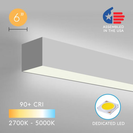 12100-66-W Continuum 66 Series Architectural LED Linear Wall Mount Direct/Indirect Light Fixture
