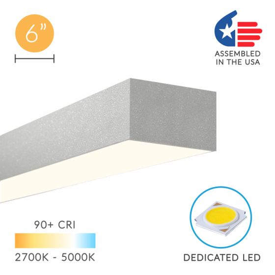 Alcon Lighting 12100-64-S Continuum 64 Series Architectural LED Linear Surface Mount Direct Light Fixture