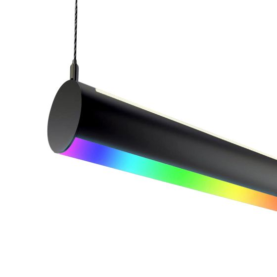 Alcon 12100-R4-RGBW-P LED Color-Tunable Tube Pendant Light