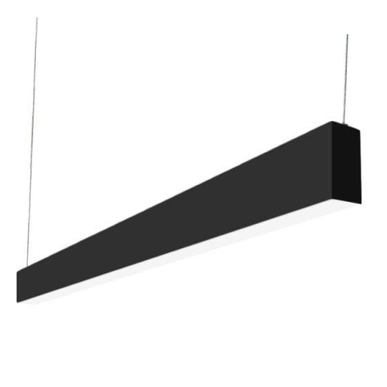 "Alcon Lighting Beam 23 Series 12104-8-BK 2"" Aperture 8 Ft Linear LED Pendant Light Fixture - Black"