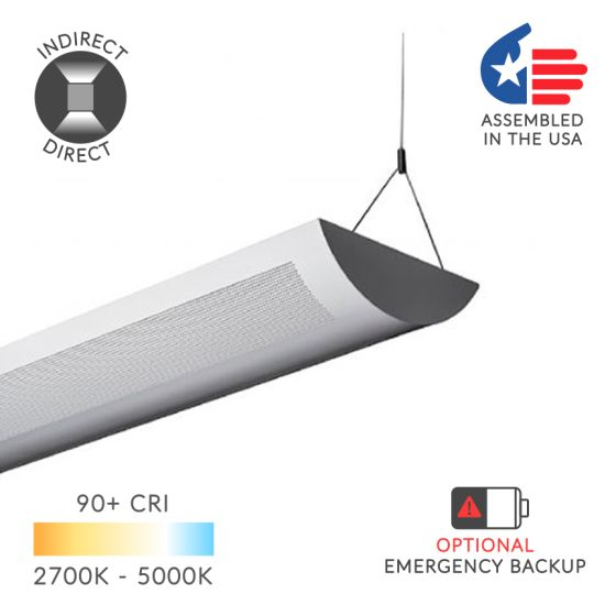 Alcon Lighting 12106 Ashton Architectural LED Perforated Linear Pendant Lighting Direct/Indirect Fixture