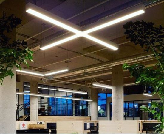 Alcon Lighting 12100-44-X Continuum 44 Cross Series LED Linear Suspended Pendant Direct/Indirect Light Fixture