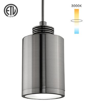 Alcon Lighting 12127 Steel Head Architectural Cylinder LED Pendant Mount Lighting Fixture