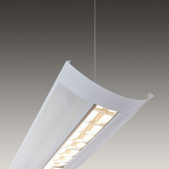 Alcon Lighting 12030 Kingston Architectural LED Linear Pendant Mount Direct/Indirect Light Fixture