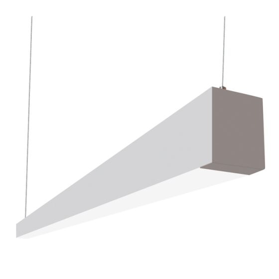 Alcon Lighting Beam 253 Series 12145-8 LED 2.5 Inch Aperture 8 Foot Enclosed Linear Pendant Light Fixture - Silver