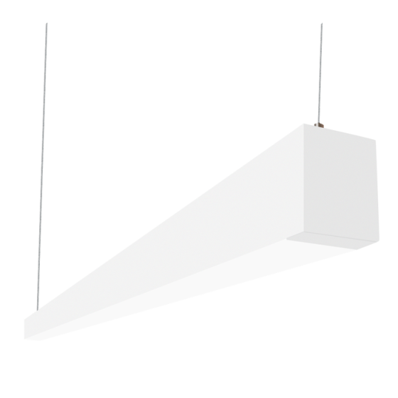 Alcon Lighting Beam 253 Series 12145-8 LED 2.5 Inch Aperture 8 Foot Enclosed Linear Pendant Light Fixture - White