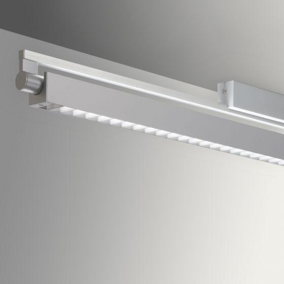 Gladstone Adjustable Architectural LED Strip Light Pendant - Louvered Direct/Indirect