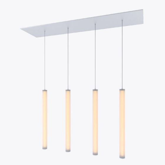 Alcon Lighting 12168-4 Cosma 4 Light Cluster Architectural LED Long Cylinder Vertical Tube Commercial Pendant Light Fixture