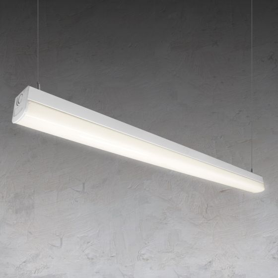 Alcon Lighting 12185 Vela Pendant Mount Architectural LED Linear Direct Down Light Strip with Color Temperature Switch