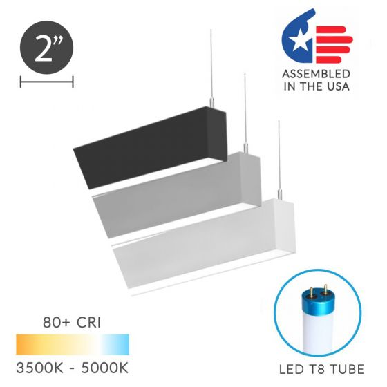 Alcon 12200-2-P RFT Series LED Linear Suspended Pendant Light