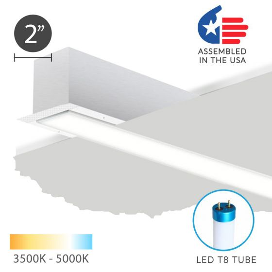 Alcon 12200-2-R RFT Architectural LED Linear Recessed Mount Light