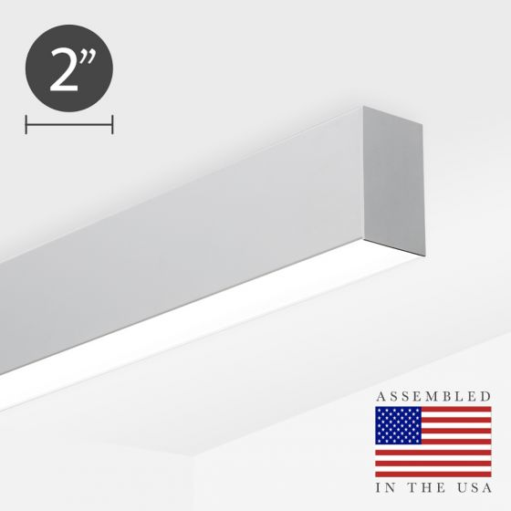 Alcon 12200-2-S RFT Narrow Linear Ceiling Surface-Mounted LED Light