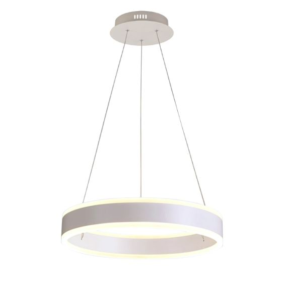 Alcon Lighting 12270-1 Redondo Suspended Architectural LED 1 Tier Ring Direct Indirect Chandelier Light