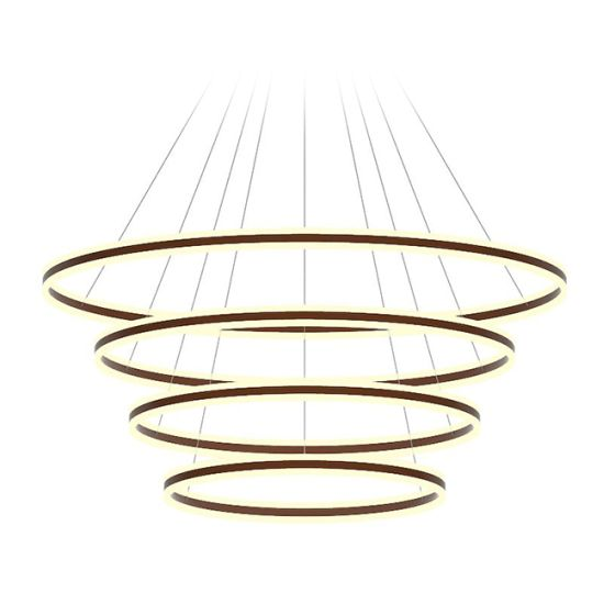 Alcon Lighting 12270-4 Redondo Suspended Architectural LED 4 Tier Ring Direct Indirect Chandelier Light
