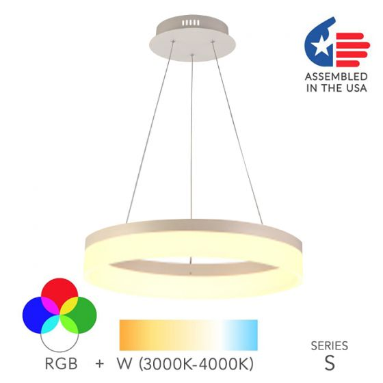 Alcon Lighting 12272-1 Redondo Architectural LED 1 Tier Ring Direct Downlight Chandelier Light