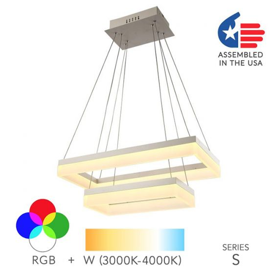Alcon Lighting 12273-2 Rectangle Architectural LED 2 Tier Direct Downlight