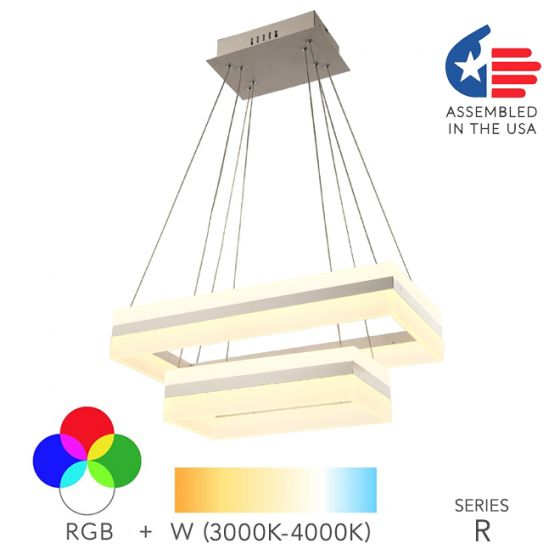 Alcon Lighting 12274-2 Rectangle Architectural LED 2 Tier Direct Downlight