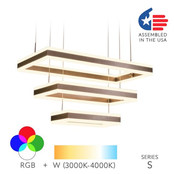 Alcon Lighting 12274-3 Rectangle Architectural LED 3 Tier Direct Downlight