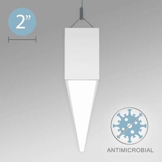 Alcon 12500-20-P Linear Antimicrobial LED Pendant Light