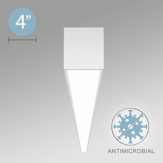 Alcon 12500-40-S Antimicrobial LED Linear Surface-Mounted Light