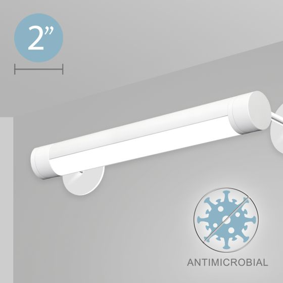 Alcon 12501-R2-W Adjustable LED Antimicrobial Wall-Mounted Tube