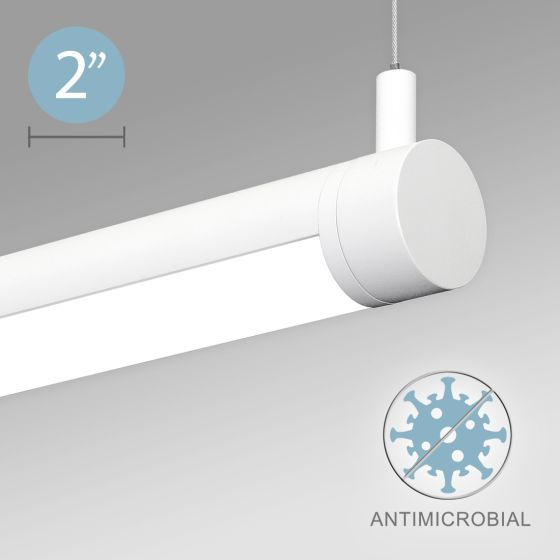 Alcon 12501-R2-P Adjustable LED Antimicrobial Tube Pendant