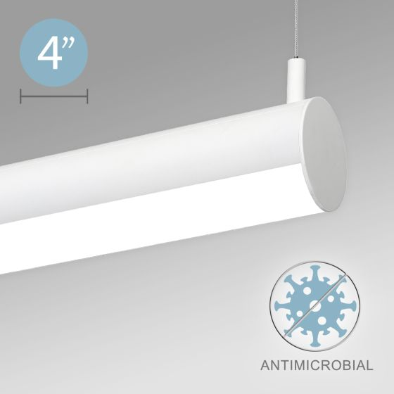 Alcon 12501-R4 LED Adjustable Direct/Indirect Antimicrobial Tube Pendant