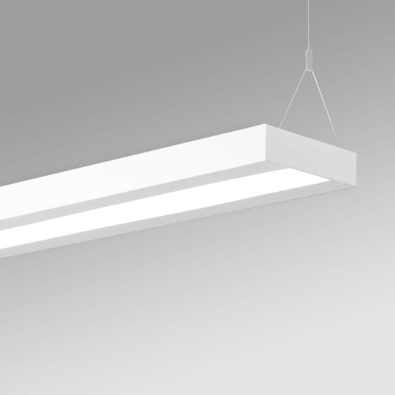 Alcon 12502-P Antimicrobial LED Linear Architectural Ceiling Pendant Light