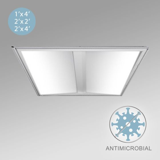Alcon 12504 Architectural LED High Performance Recessed Troffer with Antimicrobial Finish