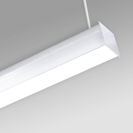 Alcon 12511-P Antimicrobial Pendant-Mounted Linear LED Cube Light