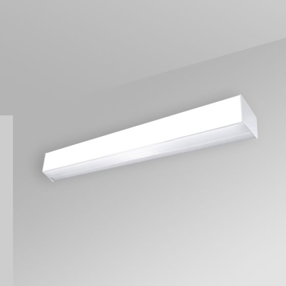 Alcon 12511-W Antimicrobial Wall-Mounted Linear LED Cube Light