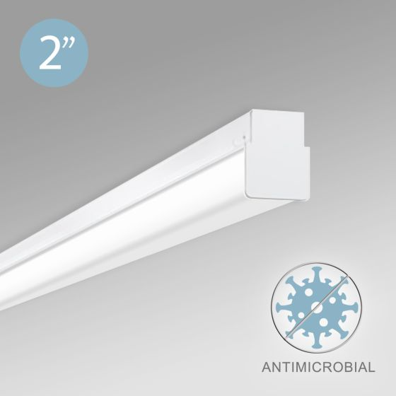 Alcon 12513-S Linear Antimicrobial LED Slim Linear Surface-Mounted Ceiling Light