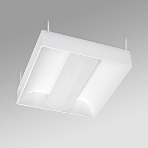 Alcon 12514-P Center Basket Antimicrobial LED Low Bay Pendant Light