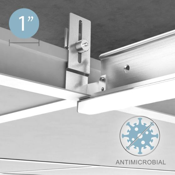 Alcon 12525 Recessed Antimicrobial LED Linear Grid Light