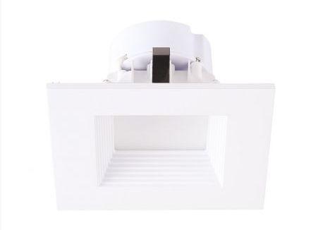 Alcon Lighting Escala 14009 4 Inch Square Architectural LED Recessed Can Light  -  Black, Silver, Bronze